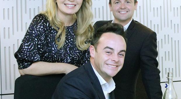 Ant and Dec, pictured with Desert Island Discs host Kirsty Young