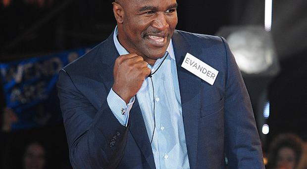 Evander Holyfield was warned by Big Brother over comments he made in the BB house