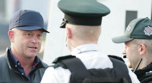 Ross Kemp filming Extreme World during sectarian riots in north Belfast