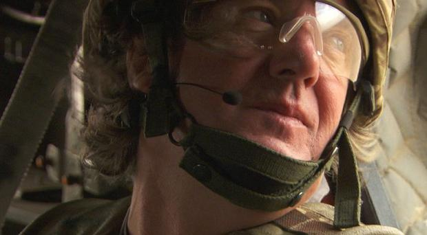 Top Gear presenter James May in Afghanistan (PA/BBC)