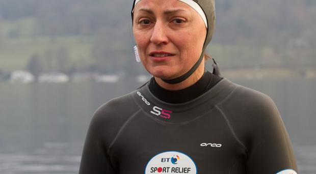 Davina McCall is taking part in the latest Sport Relief Challenge
