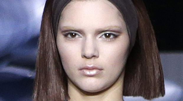 Kendall Jenner walked the runway during the showing of the Marc Jacobs autumn/winter 2014 collection at New York Fashion Week