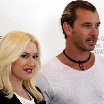 Gwen Stefani and Gavin Rossdale welcomed their third son, Apollo Bowie Flynn Rossdale, on Friday (AP)