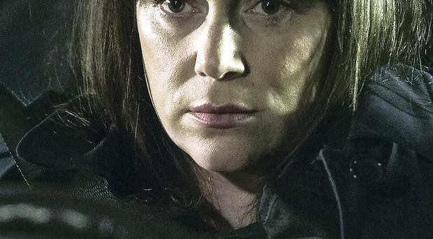 Keeley Hawes as DI Denton in Line Of Duty, and Martin Compston as Detective Sergeant Steve Arnott in the BBC drama