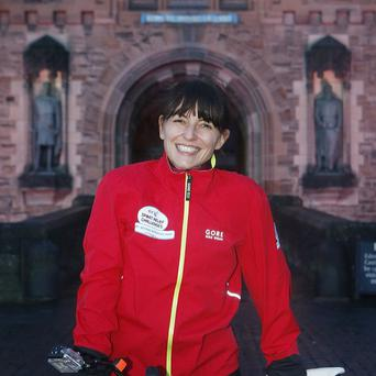 Davina McCall was all smiles when she began her gruelling Sport Relief challenge