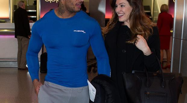 Congratulations appear to be in order for Kelly Brook and former Gladiator star David McIntosh