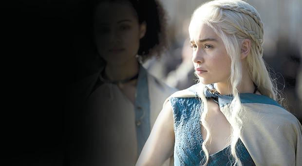 Emilia Clarke (Daenerys) in a scene from the new series