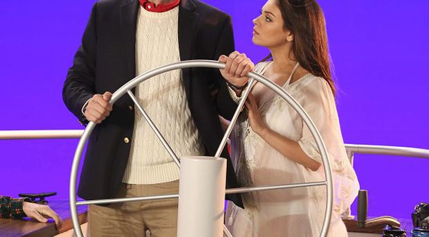 Mila Kunis has filmed a cameo on Ashton Kutcher's show Two And A Half Men (Robert Voets/Warner Bros)