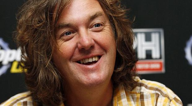 James May tweeted that he had used his phone in the car