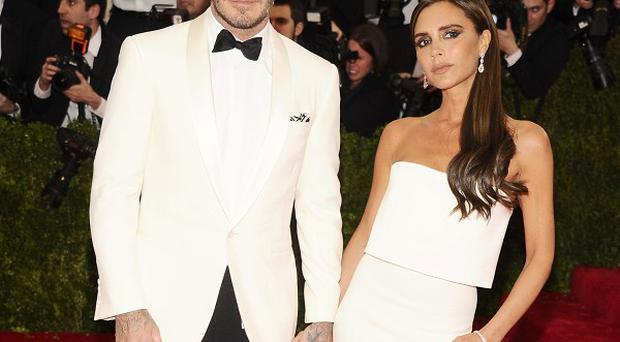David Beckham and Victoria Beckham wore matching outfits at the Metropolitan Museum of Art's Costume Institute benefit gala in New York