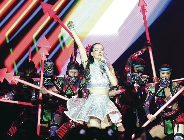 Katy Perry dazzled on stage last night at the Odyssey