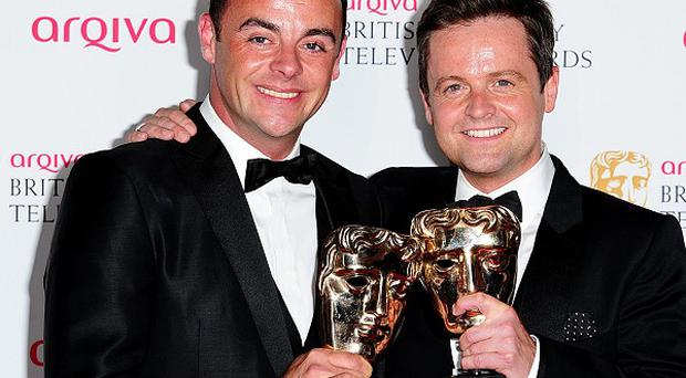 Anthony McPartlin and Declan Donnelly with the Entertainment Programme Award for Saturday Night Takeaway