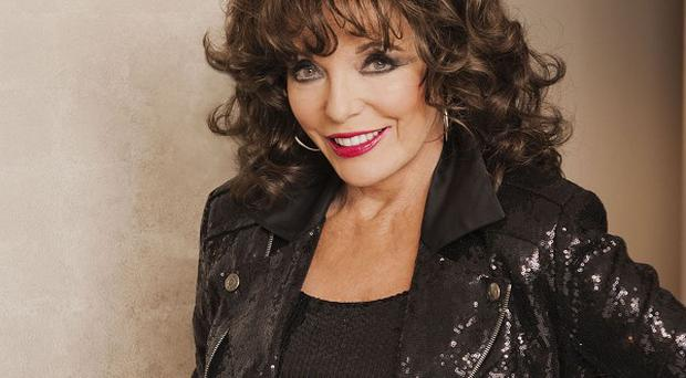Joan Collins, who appears in this week's Hello! Magazine