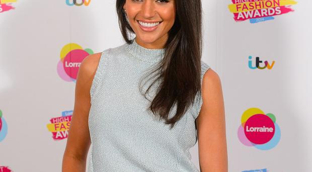 Michelle Keegan was all smiles at the awards ceremony