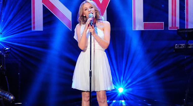 Kylie Minogue sang The Locomotion at a party in Cannes