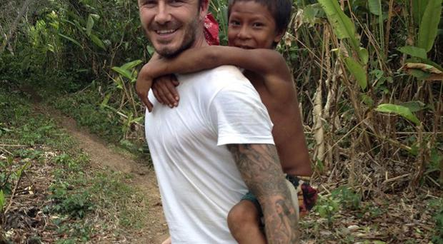 David Beckham found it refreshing to meet people who didn't know who he was
