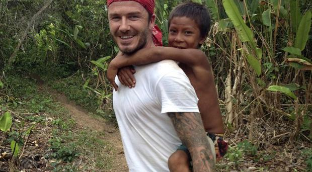 David Beckham admitted he isn't a fan of frogs or snakes
