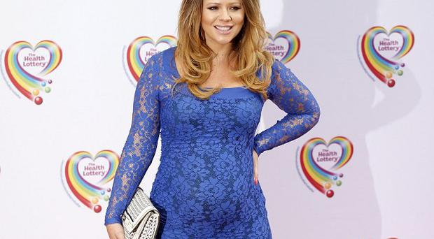Kimberley Walsh has said her pregnancy is going well so far