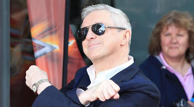 Judge Louis Walsh arrives at the Manchester X Factor auditions at Lancashire County Cricket Club