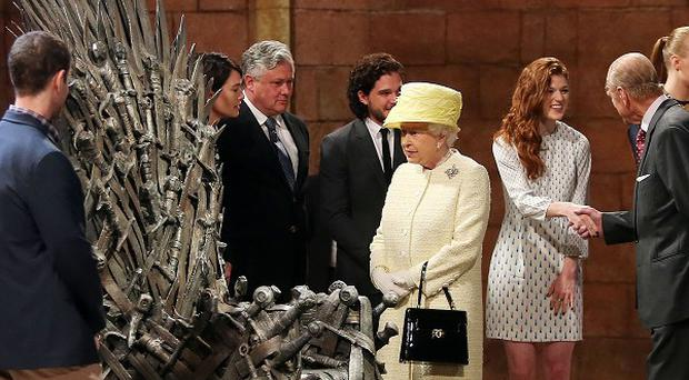 Queen Elizabeth II and the Duke of Edinburgh visited the Game Of Thrones set and met stars of the show