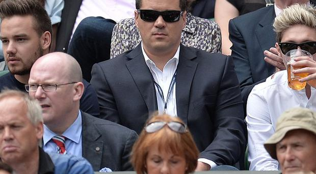 Liam Payne and Niall Horan from One Direction watched the action on Centre Court at Wimbledon