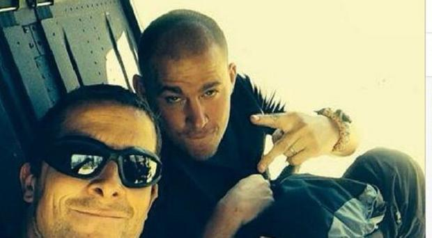 Channing Tatum shared this picture of himself with Bear Grylls on Instagram