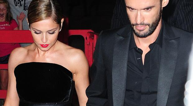 Cheryl and Jean-Bernard Fernandez-Versini arrive at their wedding party in London