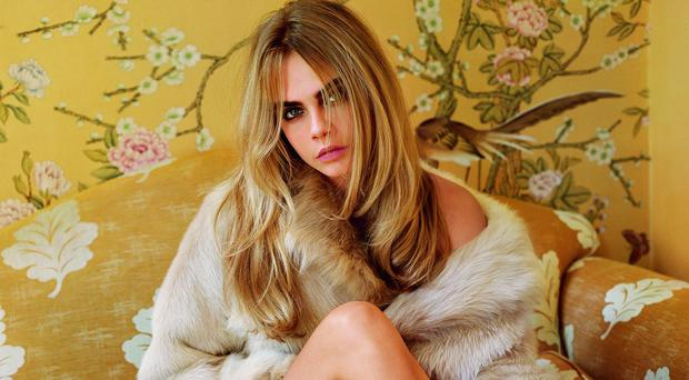 Cara Delevingne features in Topshop's autumn/winter 2014 campaign