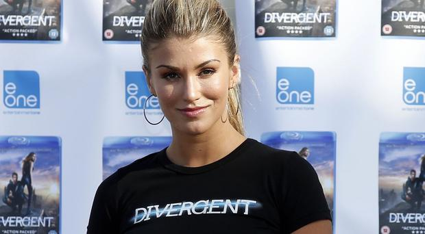 Amy Willerton during the launch of Divergent on DVD at the O2 Arena