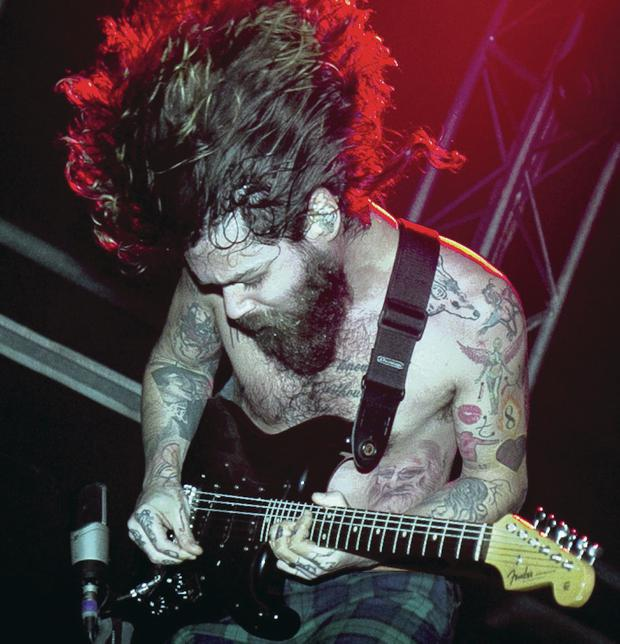 Simon Neil of Biffy Clyro in action at Belsonic last night