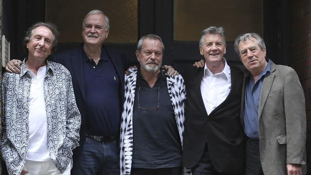 Eric Idle, John Cleese, Terry Gilliam, Michael Palin and Terry Jones appeared in the Monty Python farewell show, which was shown on Gold