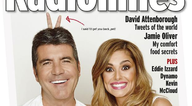 The front cover of this week's edition of the Radio Times featuring Simon Cowell and Cheryl Fernandez-Versini (Radio Times/PA)