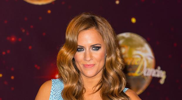 Caroline Flack attending the launch of Strictly Come Dancing 2014, at Elstree Studios, Borehamwood, Hertfordshire.
