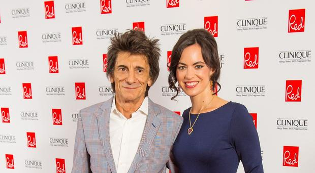 Ronnie Wood and his wife Sally arriving for the Red Magazine Women of the Year Awards