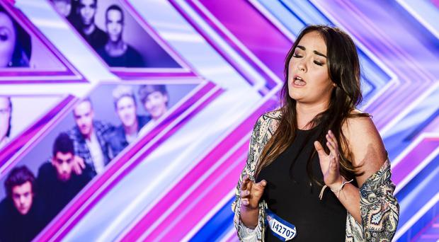 Lola Saunders appears on the X Factor (ITV/Syco/Thames TV)