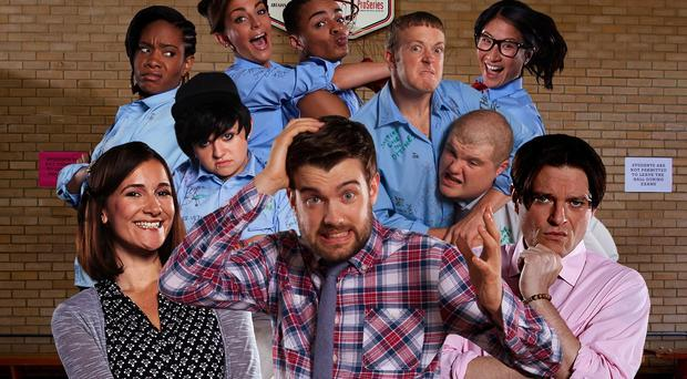 Bad Education star Jack Whitehall (centre) says he would have liked to have been a teacher