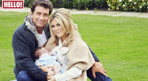 DIY SOS star Nick Knowles with wife Jessica and son Eddie.
