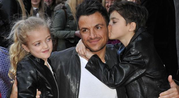 Peter Andre with Princess and Junior (Rex)
