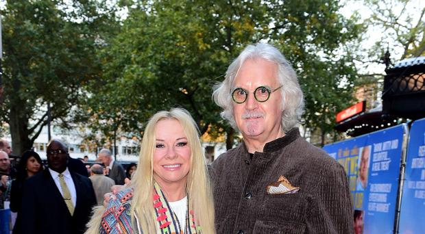 Billy and Pamela Connolly attending the premiere of What We Did On Our Holiday at the Odeon West End, London.