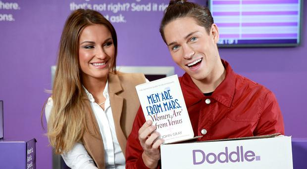 Sam Faiers and Joey Essex have sent each other parcels through new delivery service Doddle