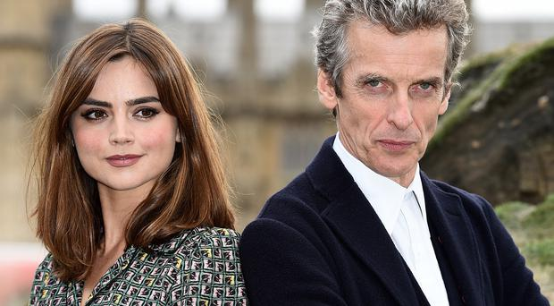 Peter Capaldi and Jenna Coleman star in Doctor Who