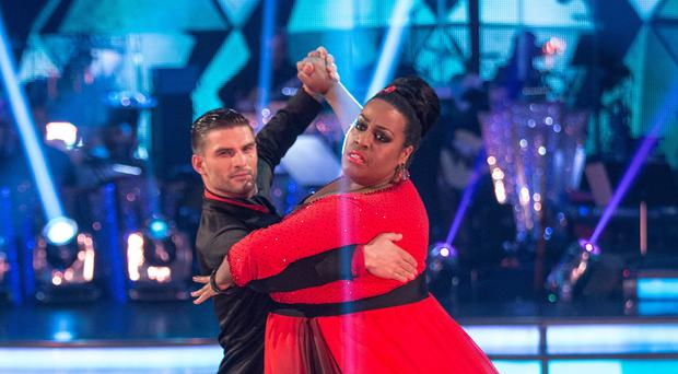 For use in UK, Ireland or Benelux countries only.BBC handout photo of Alison Hammond and Aljaz Skorjanec during the Strictly Come Dancing live show on BBC One.