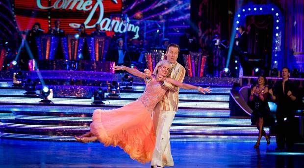Judy Murray and professional partner, Anton Du Beke, have danced their final dance on Strictly (BBC/PA)