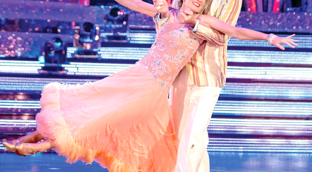 Anton du Beke and Judy Murray during their final dance last night