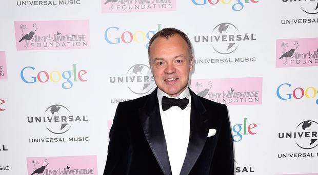 Graham Norton attends the Amy Winehouse Foundation Ball at the Landmark Hotel in London.