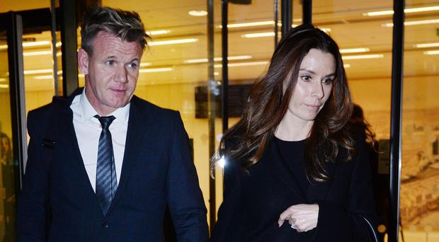 Gordon and Tana Ramsay leaving the High Court in London
