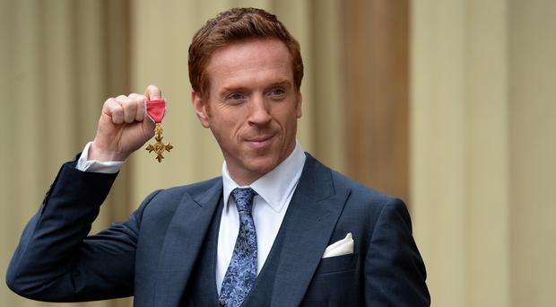 Homeland star Damian Lewis with his OBE