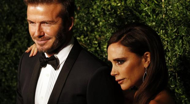 David and Victoria Beckham at the 60th London Evening Standard Theatre Awards at the London Palladium