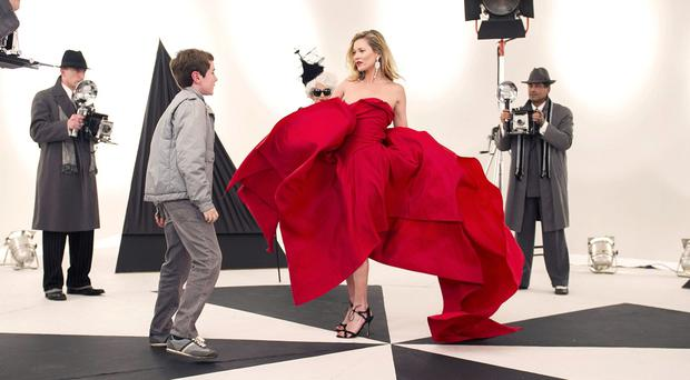 Kate Moss appears in the BBC Christmas drama of adaptation of David Walliams's book The Boy In The Dress