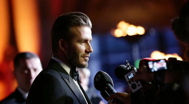 David Beckham attending the A Night of Heroes: The Sun Military Awards at the National Maritime Museum, London.